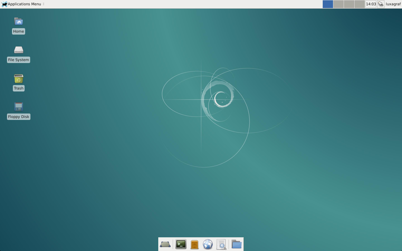 vue desktop debian xfce